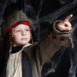Little boy wearing pirate costume — Stock Photo #2328632