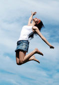 Girl jumping — Stock Photo