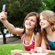 Two girlfriends in park — Stock Photo #2330735