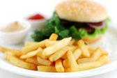 Cheeseburger — Stock fotografie