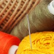 Threads and needle - Stock Photo