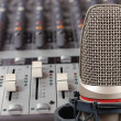 Microphone in sound studio - Stock Photo