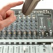 Microphone in sound studio — Stock Photo