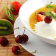 Soup from fruit and berries — Stock Photo