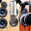 Headphones and microphone — Stock Photo #2152732