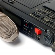 Microphone and dictophone - Stock Photo
