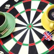 Darts coffeebreak — Stock Photo