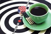 Darts and coffee — Stock Photo