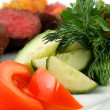 Vegetables with meat — Stock Photo