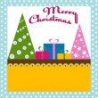 Christmas background with tree — Image vectorielle