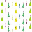 Stock Vector: Christmas background with tree