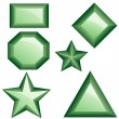 Set of green diamonds - Stock Vector