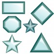 Set of green diamonds — Imagen vectorial