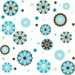 Royalty-Free Stock Vector Image: Background with different blue flowers