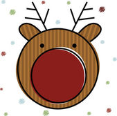 Christmas Reindeer . — Stock Vector