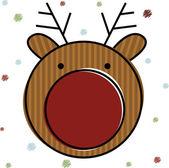 Christmas Reindeer . — Vetor de Stock