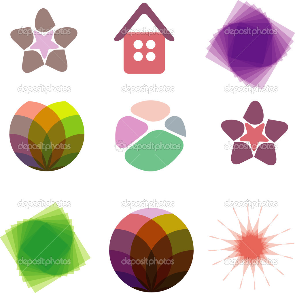 Vector cartoon style icon set. Vector Illustration — Stock Vector #1781165