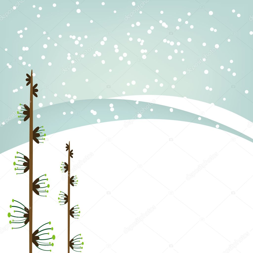 Winter background. Vector Illustration — Stock Vector #1781363