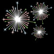 Firework in honor of Independence Day. — Stock Vector