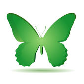 Colorful green butterfly. — Stock Vector