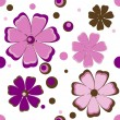 Stock Vector: Background with pink flowers.