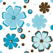 Background with blue flowers. — Stock Vector