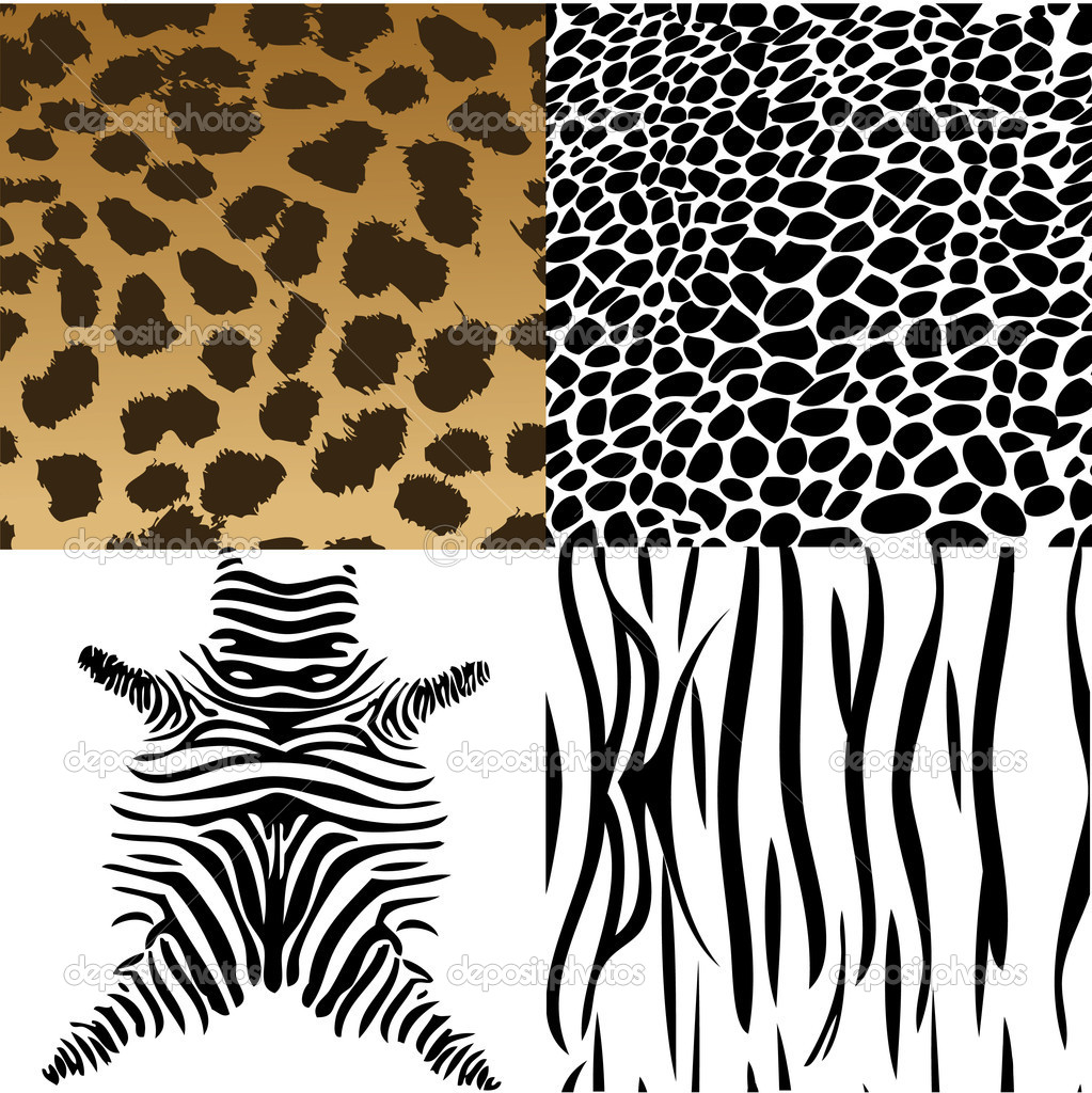 Animals skin. Vector Illustration — Stock Vector #2262320