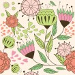 Ornament background with flowers — Stock Vector #2556928