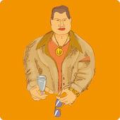 男性のファッションの肖像画 — ストックベクタ