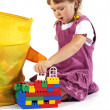 Stock Photo: Young girl playing with blocks