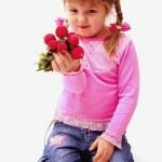 Girl with radish — Stock Photo #1757125