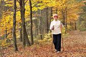 Nordic walking — Stock Photo