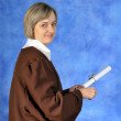 Graduate with diploma — Stock Photo