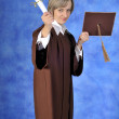 Royalty-Free Stock Photo: Graduate with diploma