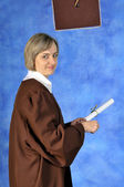 Graduate with diploma — Stock Photo