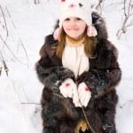Child on the snow — Stock Photo