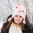 Little girl on the snow — Stock Photo #1772650