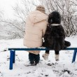 Mother and daughter in winter — 图库照片 #1772704