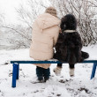 Stock fotografie: Mother and daughter in winter