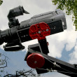 Camcorder on crane - Stockfoto