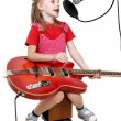 Girl in audio studio — Stock Photo #1862477