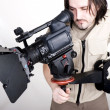 Hd camcorder on crane — Stock Photo #1862556