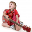 Little girl and guitar — Stock Photo #1862684