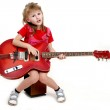 Little girl and guitar — Stock Photo #1862783