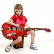 Little girl and guitar — Stock Photo #1862796