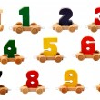 Royalty-Free Stock Photo: Isolated wooden numbers