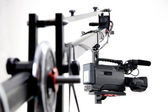 Dv camcorder on the crane — Stock Photo