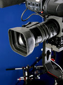 Camcorder on crane — Stock Photo