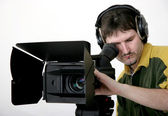 Stand hd-camcorder — Stock Photo