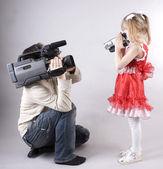 Fun video shooting — Stock Photo